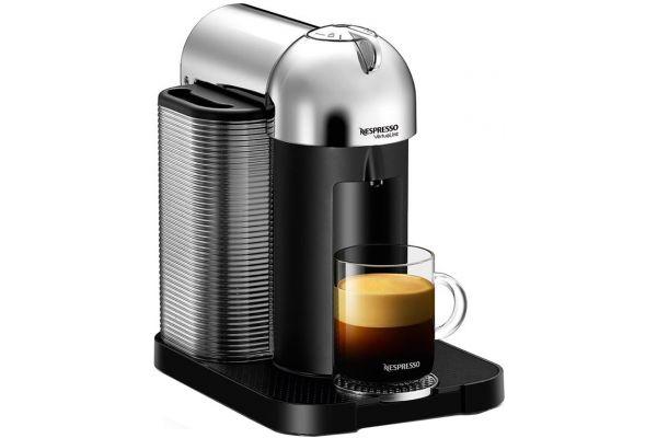 Large image of Nespresso Chrome Vertuoline & Milk Espresso Machine - BNV250CRO1BUC1