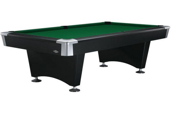 Large image of Brunswick Boca 8 Ft. Black And Green Billiard Table Package  - BOC8-BK-XX-DP-BG