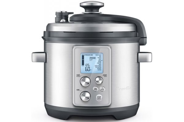 Large image of Breville 6 Quart Fast Slow Pro Pressure Cooker and Slow Cooker - BPR700BSS