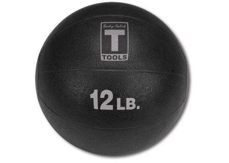 Body-Solid 12 lb Black Medicine Ball - BSTMB12