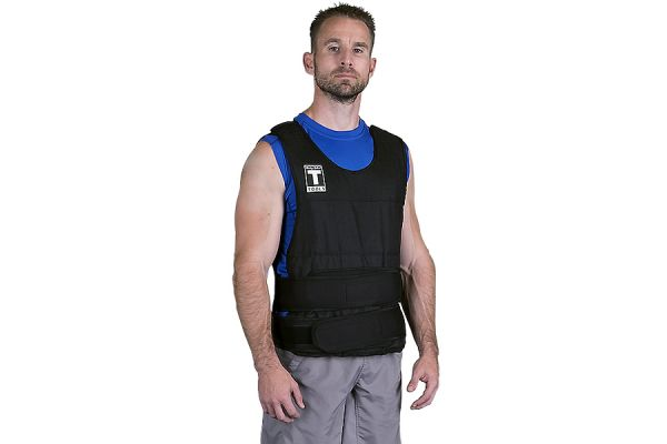 Large image of Body-Solid 20 lbs Weighted Vest - BSTWVP20