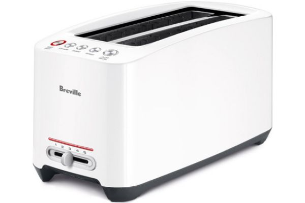 Large image of Breville White Lift And Look 4-Slice Toaster - BTA630XL