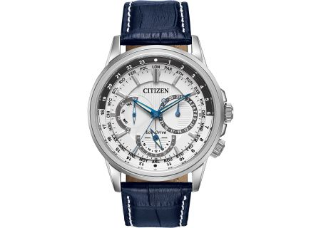 Citizen Eco-Drive Silver Tone Stainless Steel Calendrier Mens Watch - BU2020-02A