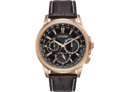 Citizen Eco-Drive Rose Gold Tone Stainless Steel Calendrier Mens Watch - BU2023-04E