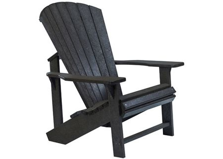 C.R. Plastic Products C01 Black Classic Adirondack Chair - C01-14