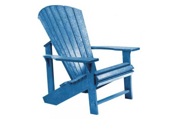 Large image of C.R. Plastic Products C01 Blue Classic Adirondack Chair - C01-03