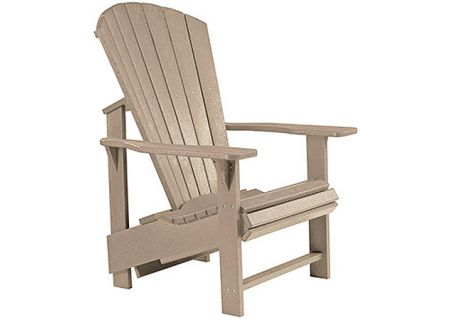 C.R. Plastic Products C03 Beige Upright Adirondack Chair - C03-07