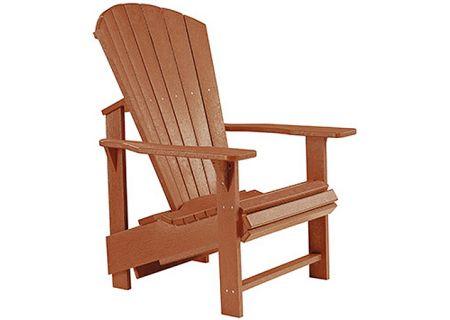 C.R. Plastic Products C03 Cedar Upright Adirondack Chair - C03-08
