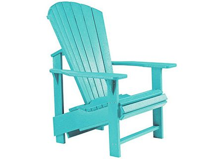 C.R. Plastic Products C03 Turquoise Upright Adirondack Chair - C03-09