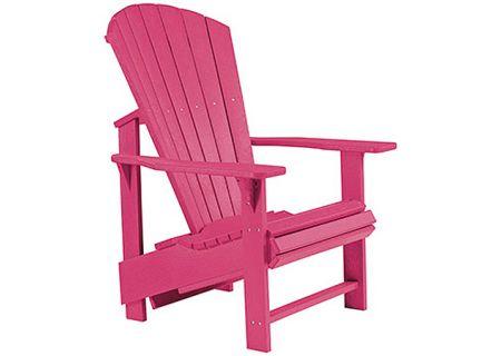 C.R. Plastic Products C03 Fuschia Upright Adirondack Chair - C03-10