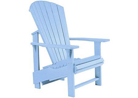 C.R. Plastic Products C03 Sky Blue Upright Adirondack Chair - C03-12