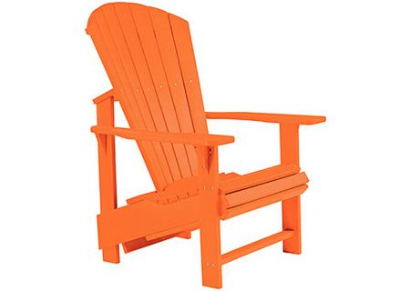 C.R. Plastic Products C03 Orange Upright Adirondack Chair - C03-13