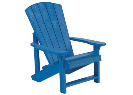 C.R. Plastic Products C08 Blue Kids Adirondack Chair - C08-03