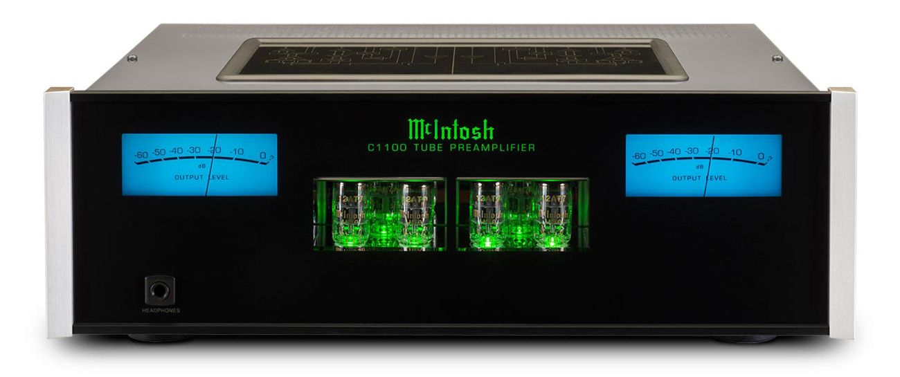 61618e9055b McIntosh Black 2-Channel Vacuum Tube Preamplifier - C1100T