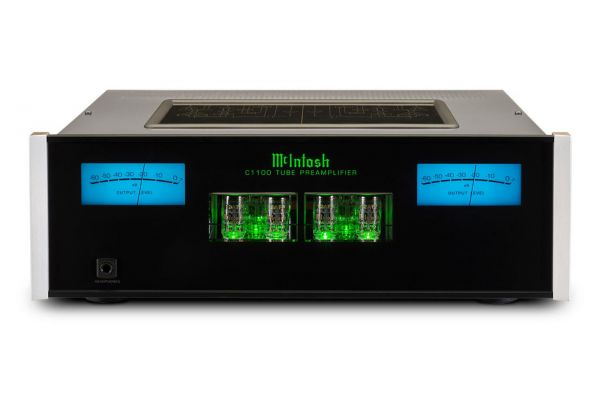Large image of McIntosh Black 2-Channel Vacuum Tube Preamplifier - C1100T