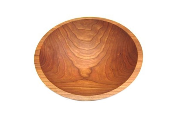 """Large image of Holland Bowl Mill 12"""" Michigan Cherry Wooden Bowl - C112B"""