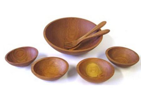 "Holland Bowl Mill Cherry 15"" Wooden Salad Bowl Set - C115B7S"