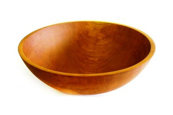 """Large image of Holland Bowl Mill Michigan Cherry 17"""" Wooden Bowl - C117B"""
