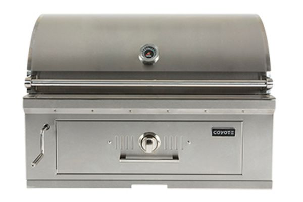 """Large image of Coyote 36"""" Stainless Steel Charcoal Grill - C1CH36"""