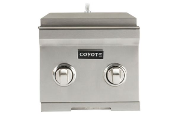 Large image of Coyote Stainless Steel Natural Gas Double Side Burner - C1DBNG