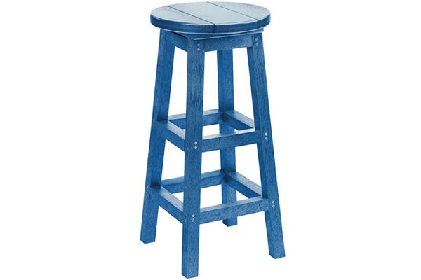 Large image of C.R. Plastic Products C21 Blue Bar Stool - C21-03