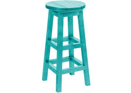 C.R. Plastic Products C21 Turquoise Bar Stool - C21-09