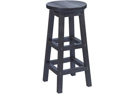 C.R. Plastic Products C21 Black Bar Stool - C21-14