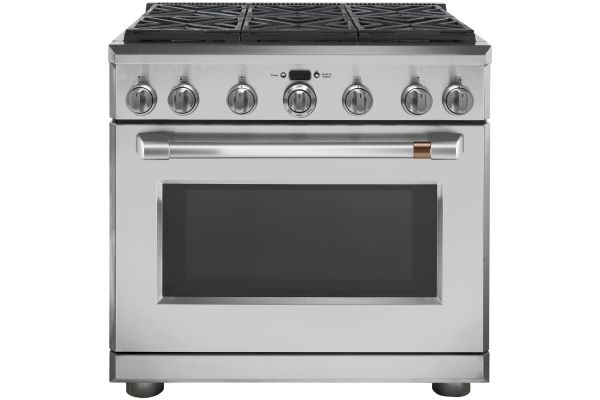 """Cafe 36"""" Stainless Steel Dual Fuel Professional Range - C2Y366P2MS1"""