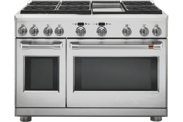 """Cafe 48"""" Stainless Steel Dual-Fuel Professional Range - C2Y486P2MS1"""
