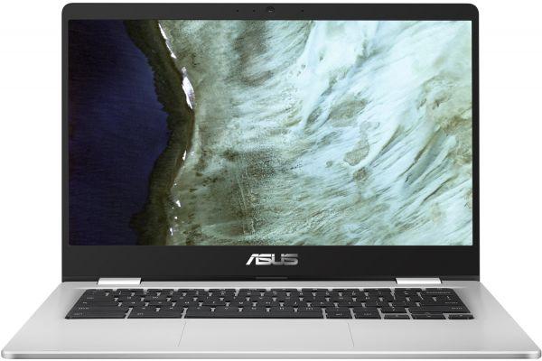 "Large image of Asus Chromebook C423 Silver 14"" Intel Celeron N3350 Processor 4GB RAM 32GB eMMC, Intel HD Graphics 500 - C423NA-DH02"
