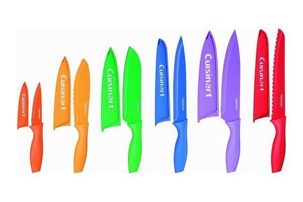 Large image of Cuisinart Advantage 12-Piece Color Knife Set With Blade Guards - C55-01-12PCKS