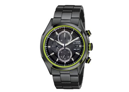Citizen Eco-Drive Black Stainless Mens Watch - CA0435-51E