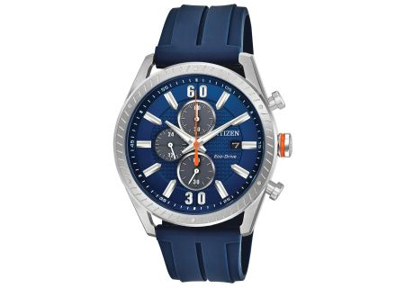 Citizen Eco-Drive CTO Stainless Steel And Blue Mens Watch  - CA0661-01L