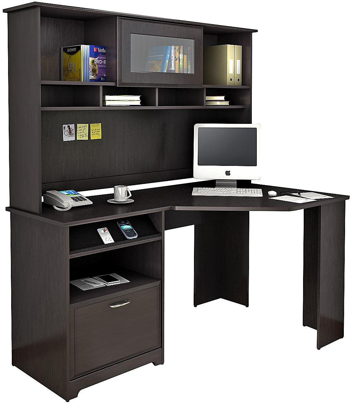 Bush Furniture Oak Corner Desk With Hutch Cab008epo