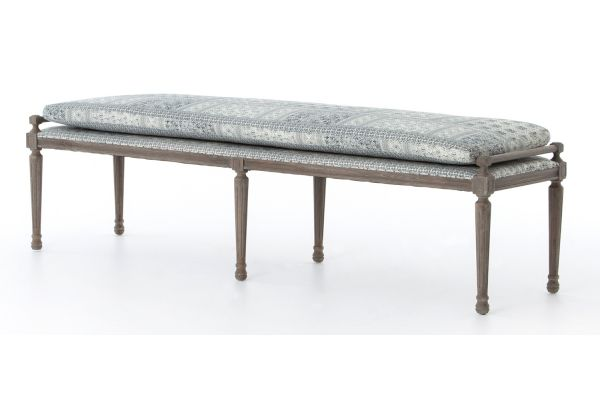 """Large image of Four Hands Abbott Collection 67"""" Batik Indio Lucille Dining Bench - CABT-36"""