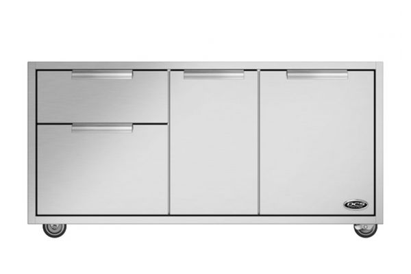 """Large image of DCS 48"""" CAD Stainless Steel Grill Cart  - CAD148"""