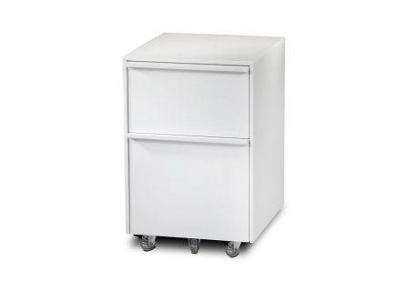 BDI Cascadia 6207 White Mobile File Cabinet  - CASCADIA6207SW