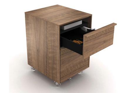 BDI Cascadia 6207 Walnut Mobile File Cabinet  - CASCADIA6207WAL