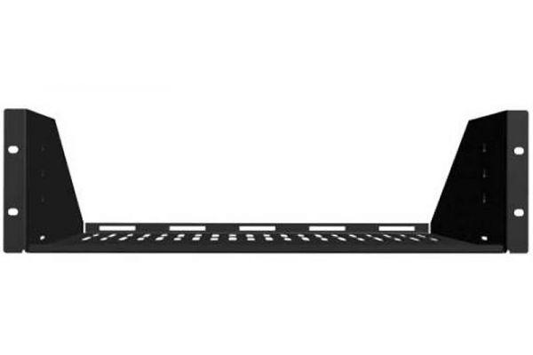 Large image of Sanus 1U Black Vented AV Shelf - CASH21-B1