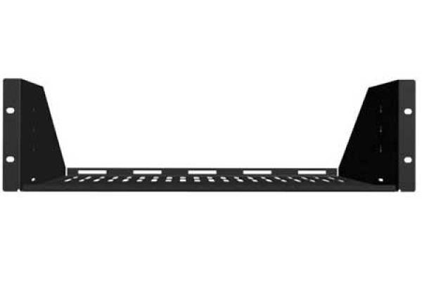 Sanus 2U Black Vented AV Shelf  - CASH22-B1