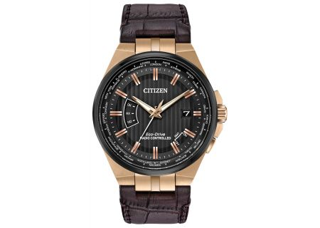 Citizen Eco-Drive World Perpetual A-T Rose Gold-Tone Mens Watch - CB0168-08E