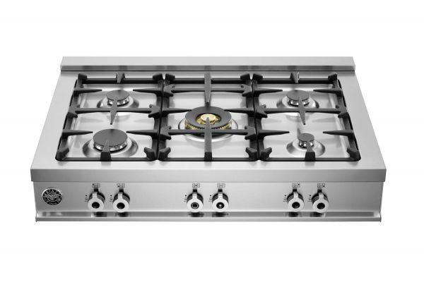"Bertazzoni Professional Series 36"" Stainless Steel Rangetop  - CB36500X"