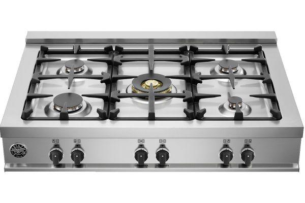 "Bertazzoni 36"" Master Series Stainless Steel Gas Rangetop - CB36M500X"