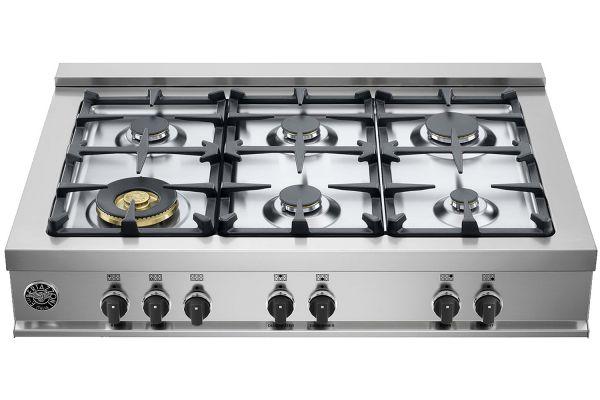 "Bertazzoni 36"" Master Series Stainless Steel Gas Rangetop - CB36M600X"