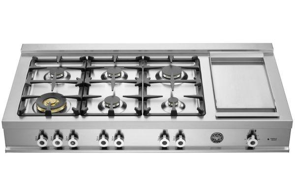 "Bertazzoni Professional Series 48"" Stainless Steel Rangetop  - CB486G00X"