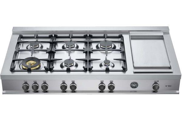 "Bertazzoni 48"" Master Series Stainless Steel Gas Rangetop - CB48M6G00X"