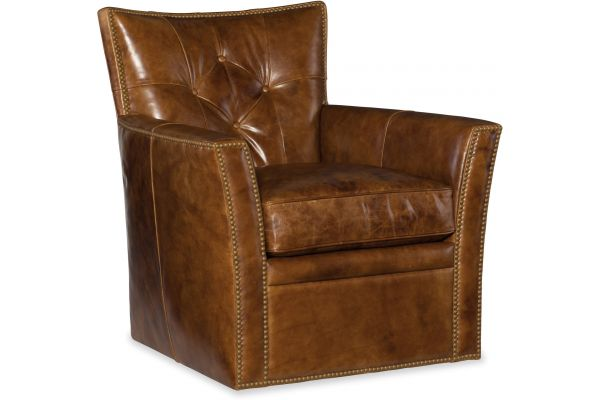 Large image of Hooker Furniture Living Room Conner Swivel Club Chair - CC503-SW-087
