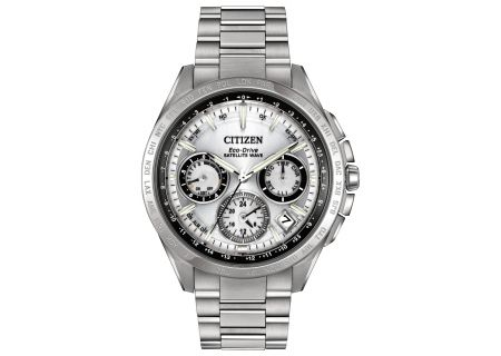 Citizen Eco-Drive Satellite Wave F900 Silver-Tone Mens Watch - CC9010-74A