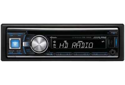 Alpine - CDE-134HD - Car Stereos - Single DIN