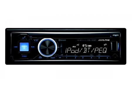 Alpine - CDE-143BT - Car Stereos - Single DIN